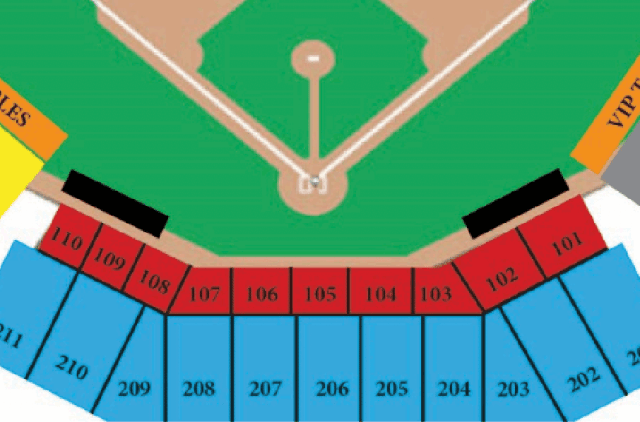 Home Plate Seating - Macon Bacon