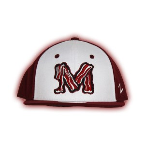 fabdbae37c610 Authentic Macon Bacon White Cardinal Fitted Cap