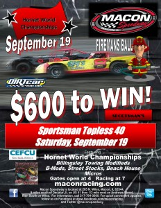 9-15-15 Topless 40 Hornet World Champ Firemans Ball