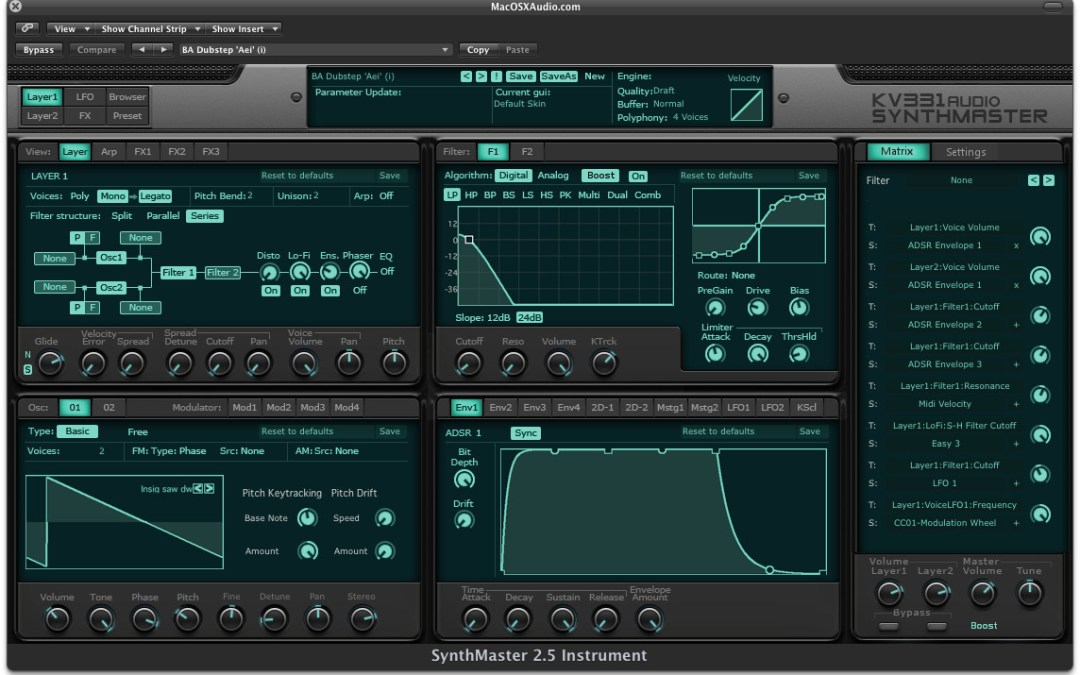 KV331 Audio SynthMaster Goes Mac