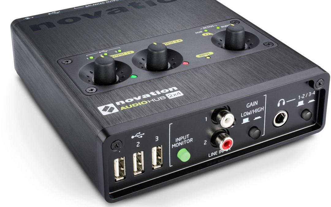 Novation Audiohub 2×4 Interface Doubles as USB Hub