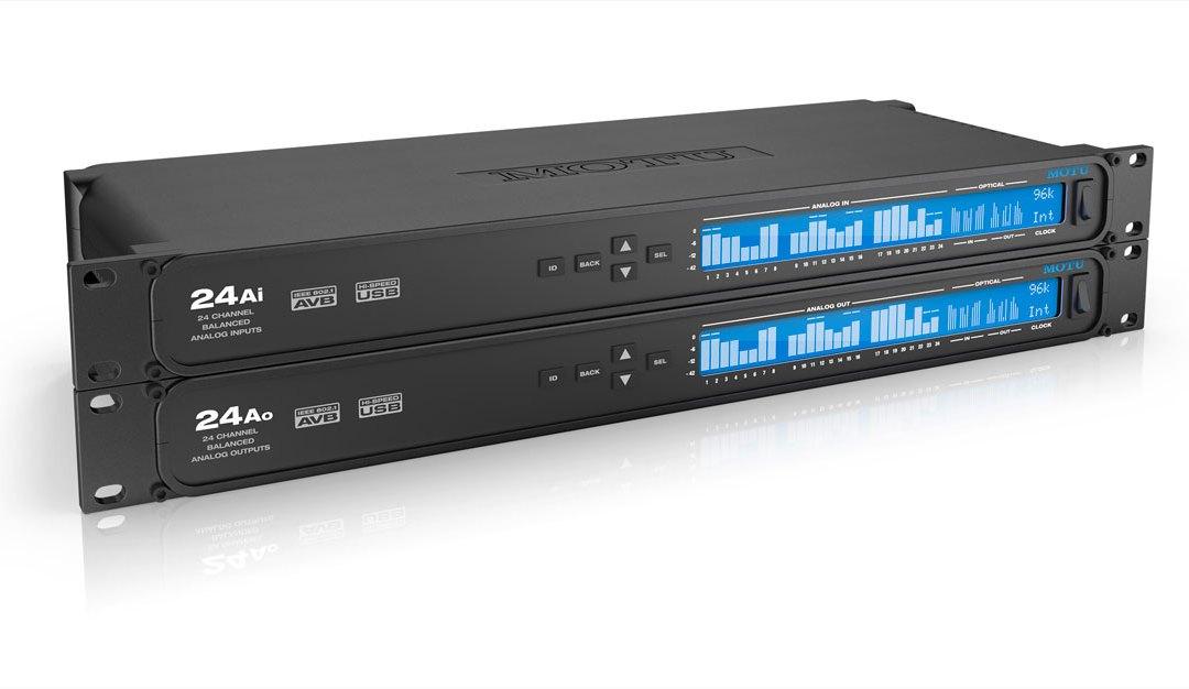 MOTU Ships 24Ai and 24Ao AVB Audio Interfaces