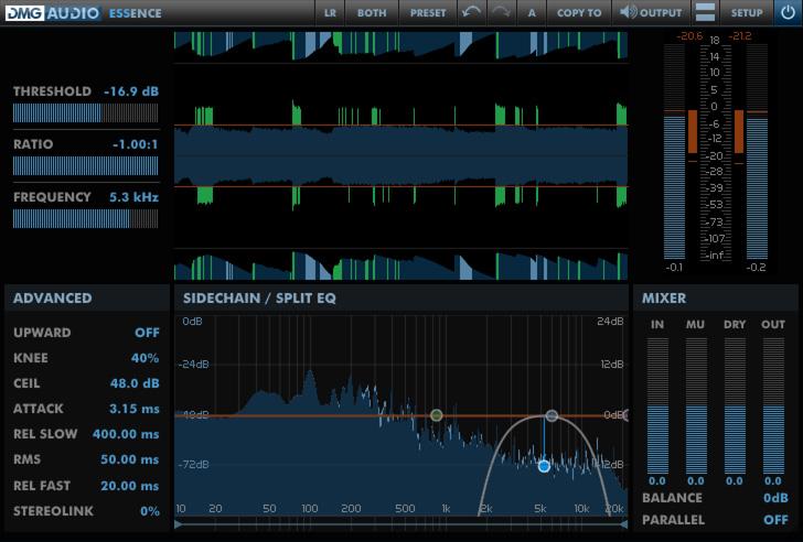 DMG Audio Essence Can Invisibly De-Ess a Full Mix