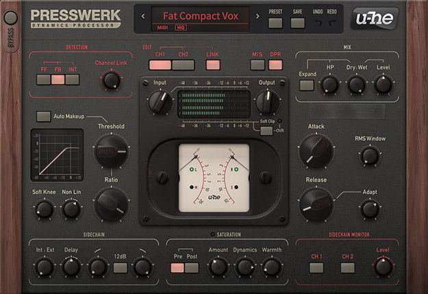 u-he Presswerk is the Compressor of All Compressors
