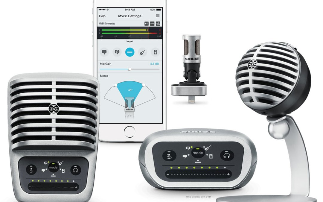 Shure Unveils MOTIV Digital Microphones and Interface