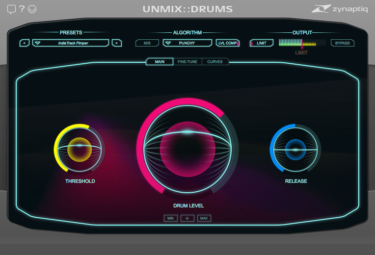 Zynaptiq UNMIX::DRUMS boosts or kills mixed drums
