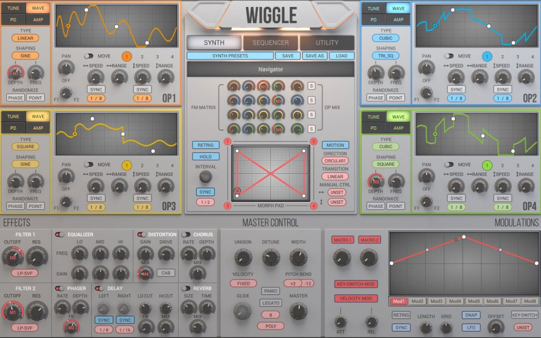 2nd Sense Audio intros Wiggle dynamic waveshaping synthesizer