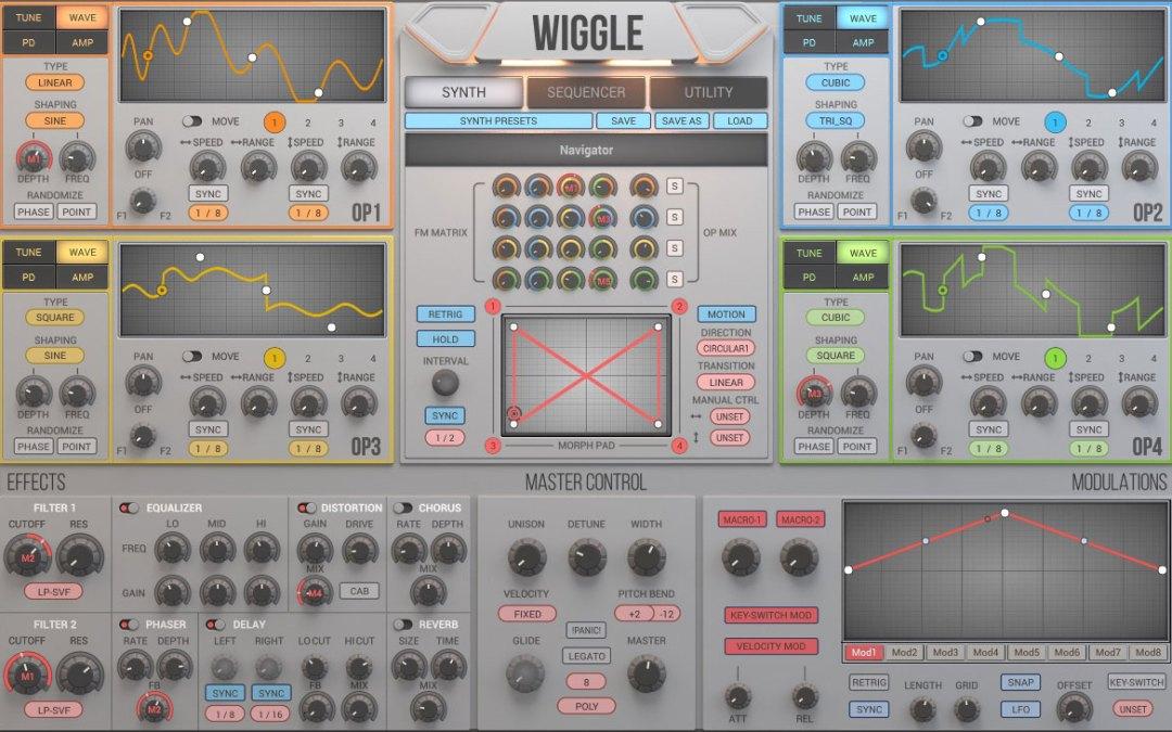 2nd Sense Audio intros Wiggle dynamic waveshaping synthesizer