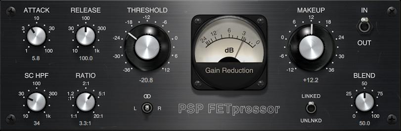 PSP premieres FETpressor feedback type compressor plugin
