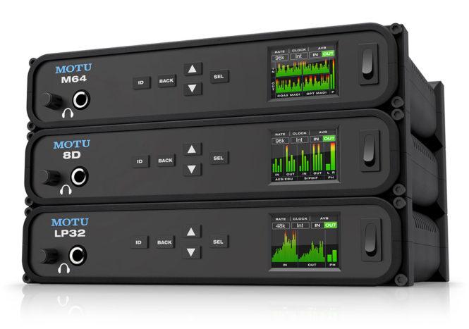 MOTU USB AVB audio interfaces