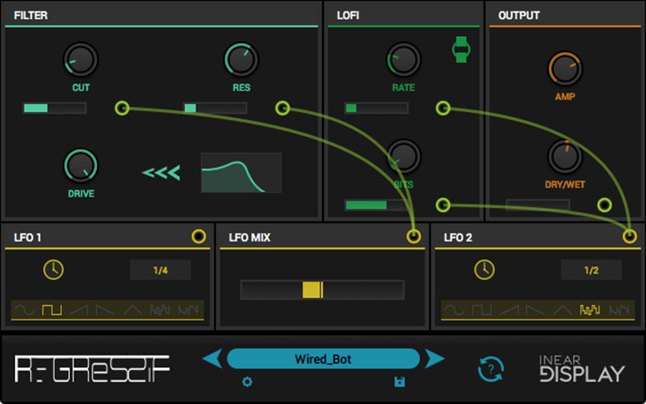 Inear Display drops free Regressif audio degradation plugin