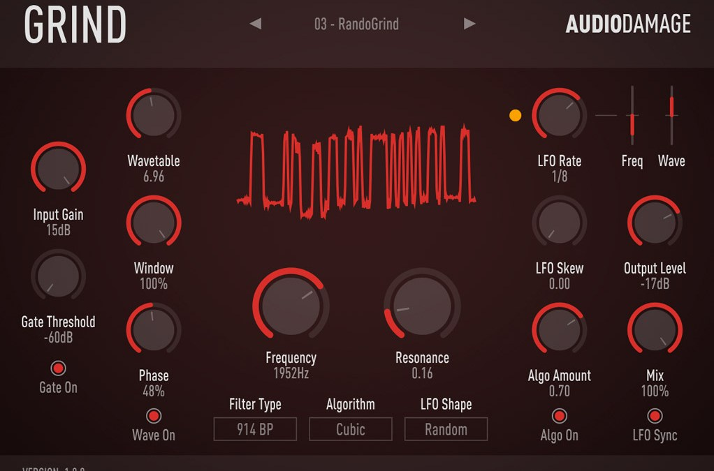 Audio Damage debuts Grind wavetable distortion and filter