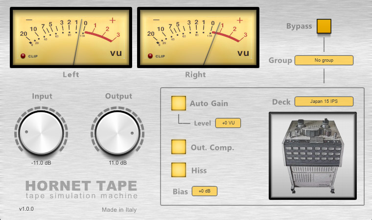 HoRNet Tape simulates four popular analog machines