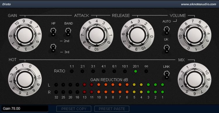 SKnote releases Disto-S Distressor emulation plugin