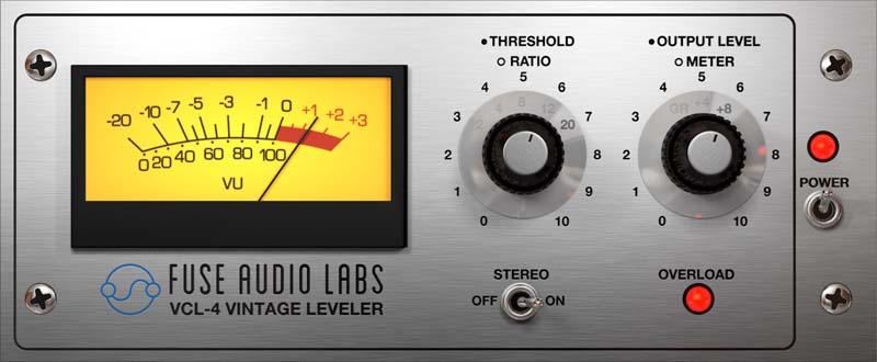 Fuse Audio Labs debuts VCL-4 Vintage Opto Leveler plugin