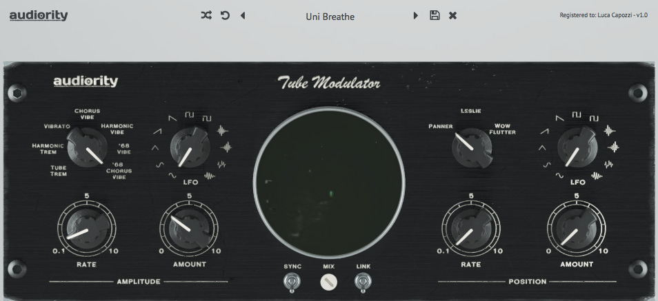 Audiority goes psychedelic with Tube Modulator plugin