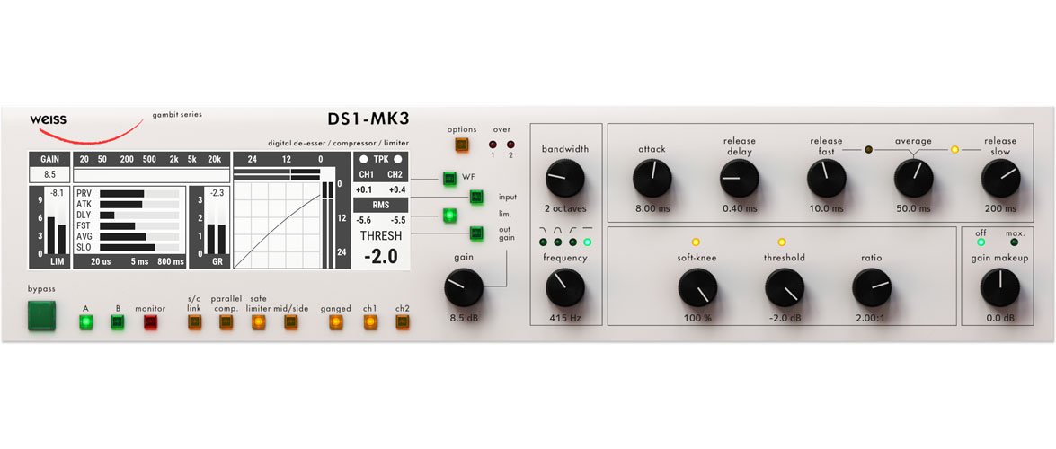 Softube debuts Weiss DS1-MK3 mastering plugin duo