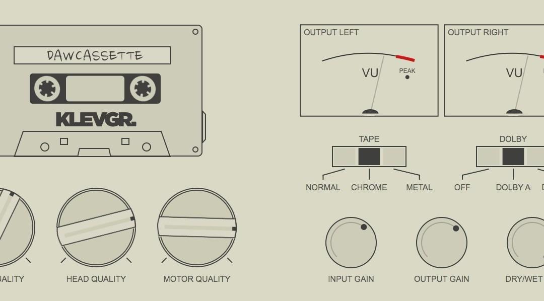 Klevgränd DAW Cassette brings tape deck emulation to Mac & iOS