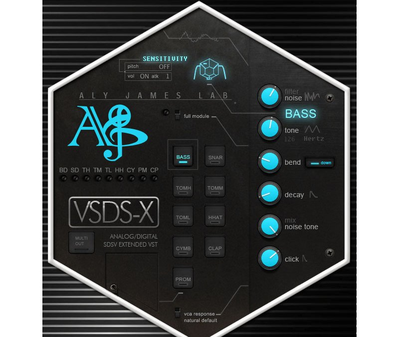Aly James Lab drums up VSDS-X 2.0 Simmons synth