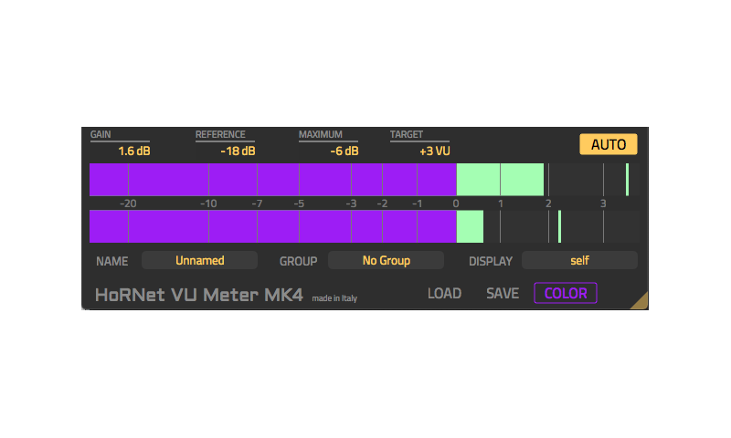 HoRNet Plugins intros VU Meter MK4 with auto gain