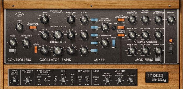 Universal Audio LUNA Moog Minimoog
