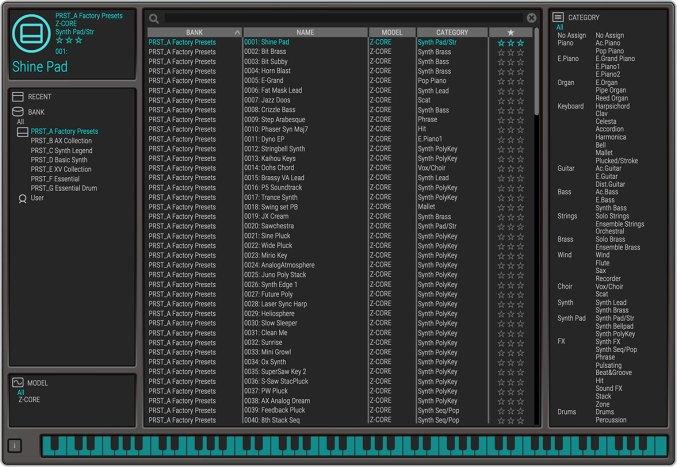 Roland Zenology - Browser