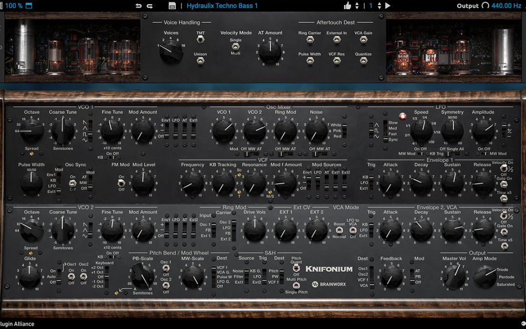 Plugin Alliance announces Knifonium tube-driven synth