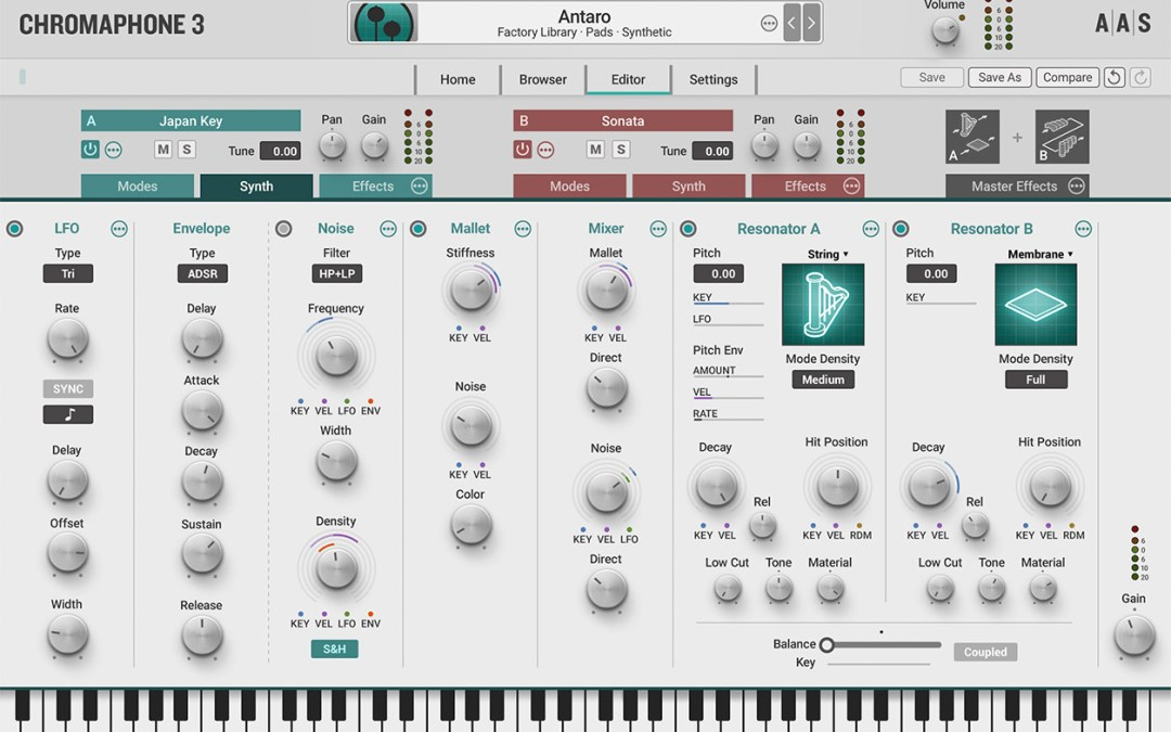 AAS announces Chromaphone 3 acoustic object synth