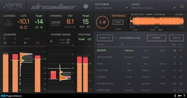 Plugin Alliance & ADPTR AUDIO Streamliner