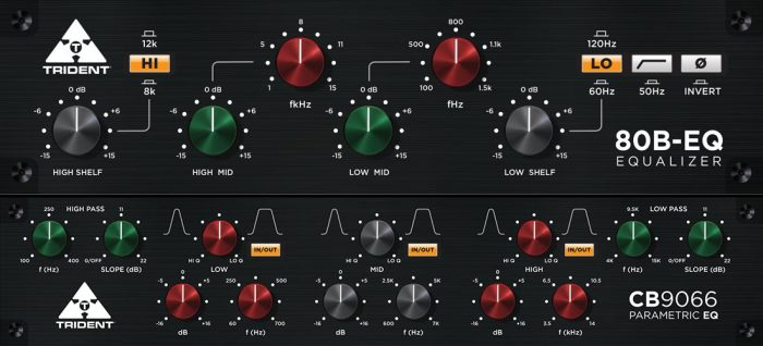Trident Audio 80B-EQ and CB9066 EQ