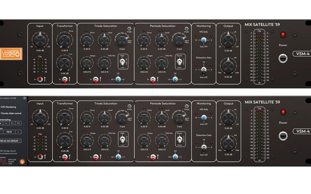 Vertigo Sound reveals VSM-4 Mix Satellite '59 plugin