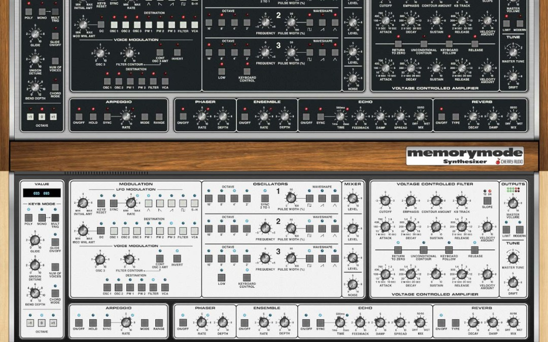 Cherry Audio releases Memorymode synthesizer