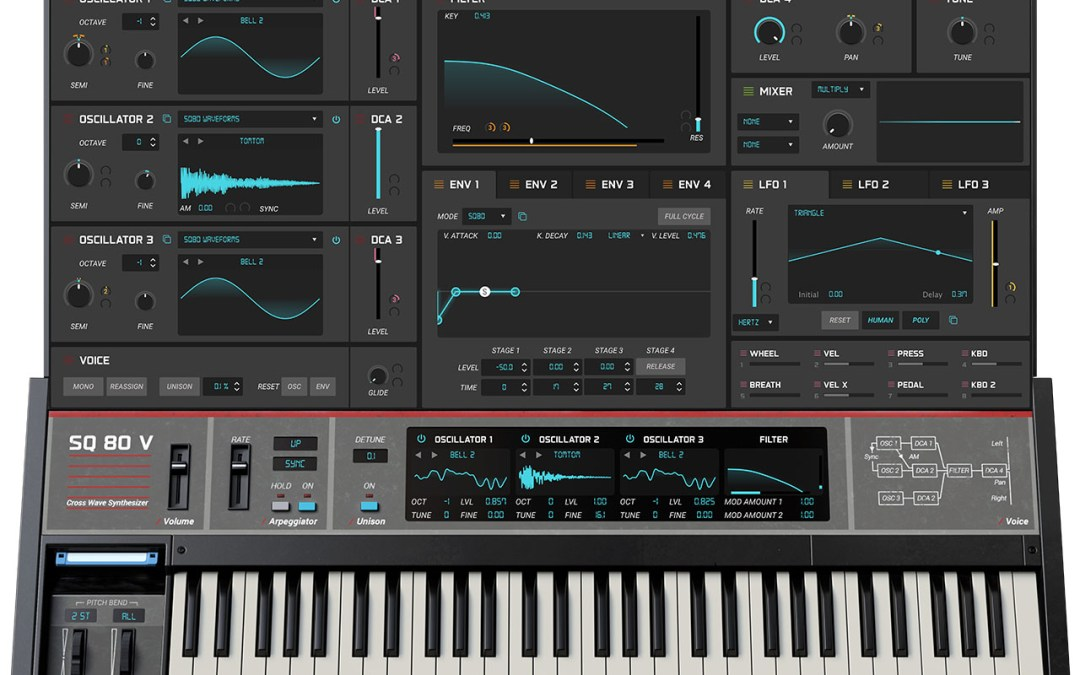 Arturia intros SQ80 V Ensoniq synth emulation