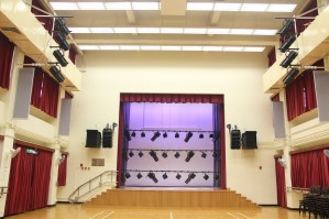 Dimming: Stage lighting and house lighting fixtures are all dimmable.