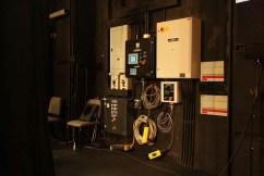 The lift machine control panels.