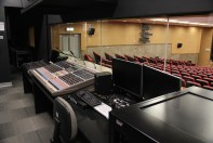 The auditorium is equipped with video control facilities.