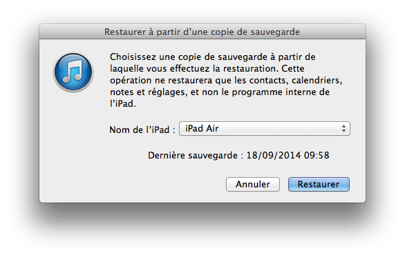 downgrade ios 8 restaurer sauvegarde