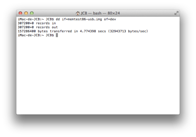 tester la ram de son mac memtest86
