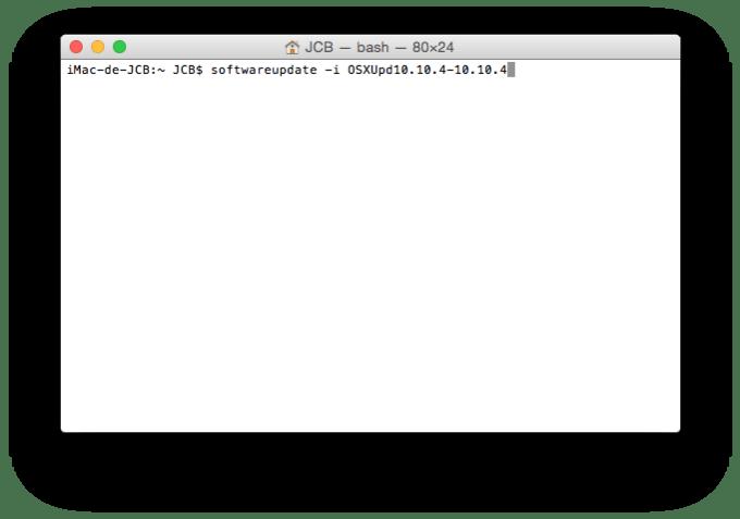 App Store softwareupdate -i OSXUpd10.10.4-10.10.4
