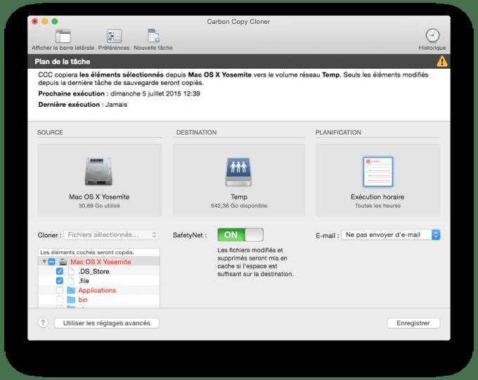 Mac OS X El Capitan carbon copy cloner