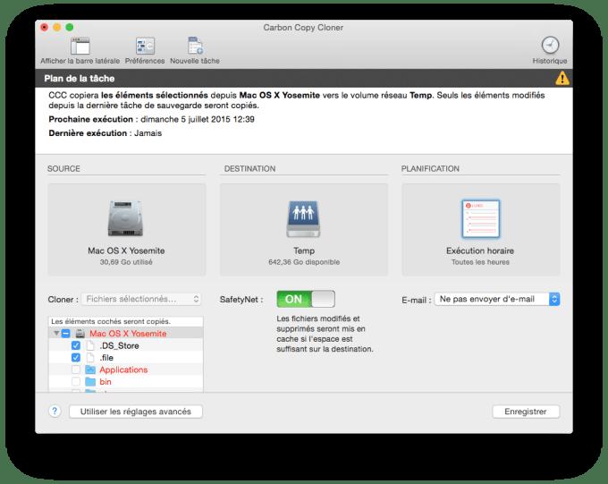 downgrader OS X El Capitan carbon copy cloner