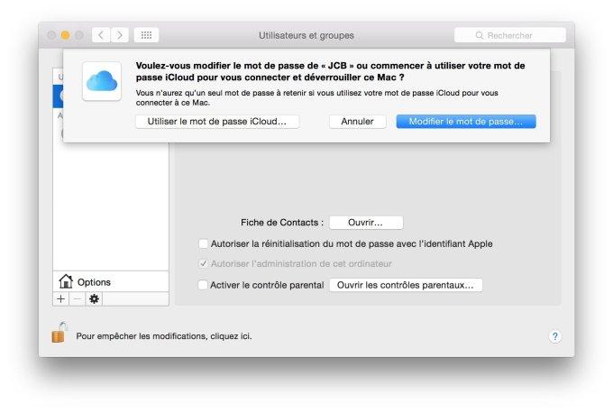 reinitialiser son mot de passe mac utiliser le mot de passe icloud