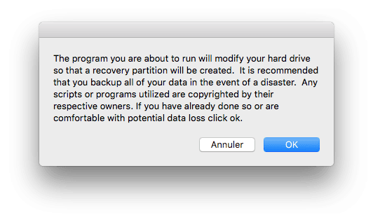 reparer la partition recovery mac Recovery Partition Creator