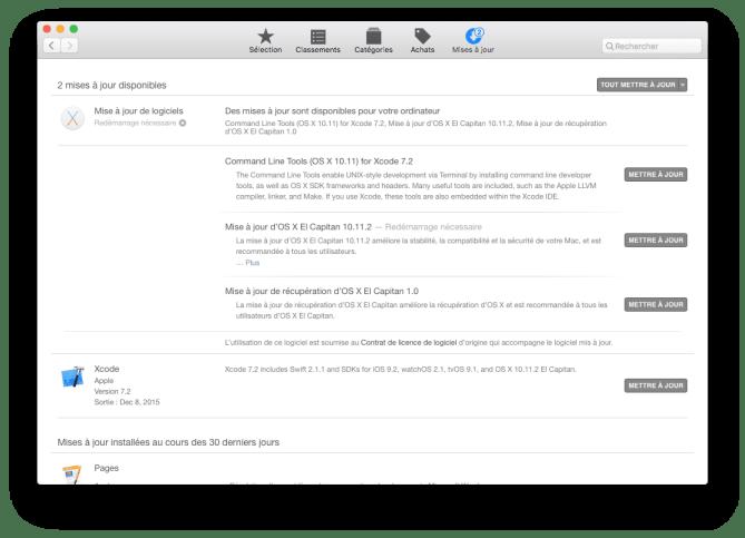 Mac OS X El Capitan 10.11.2 xcode 7.2