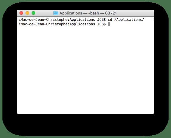 supprimer safari mac dossier apps