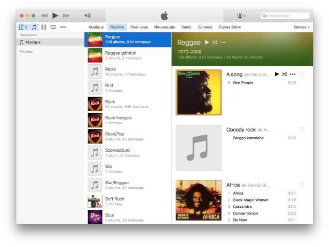 Configurer DiskStation Mac itunes diskstation musique