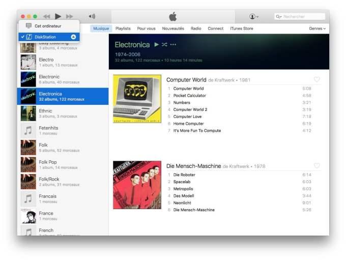 Configurer DiskStation Mac selection diskstation