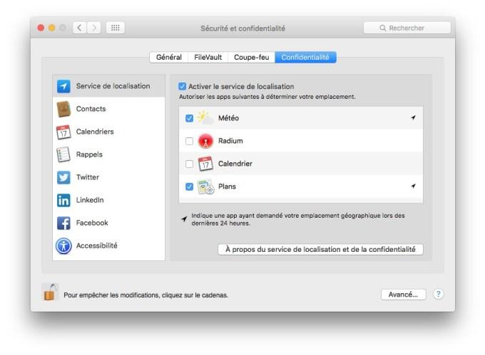 Utiliser WiFi et Ethernet sur Mac confidentialite