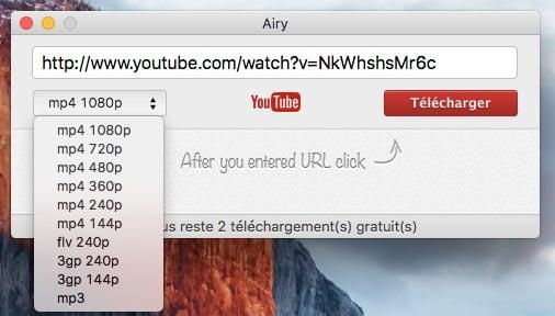 enregistrer youtube sur mac choisir format audio video