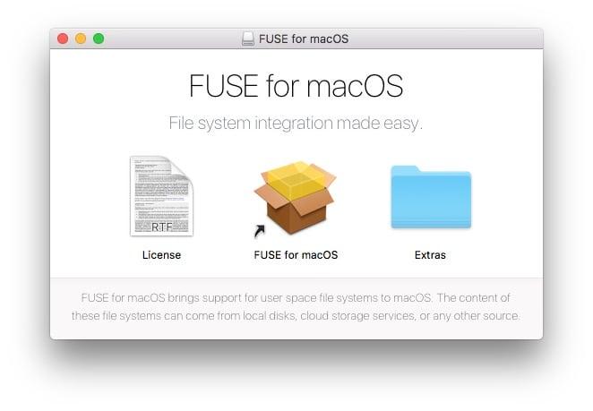 NTFS MacOS Sierra fuse